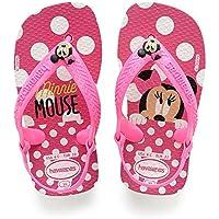 Havaianas Sandálias New Baby Disney Classic, Branco/Rosa Flúor, 21 Bra