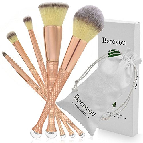 Becoyou 5pcs Makeup Brushes set Professional, Mermaid Makeup