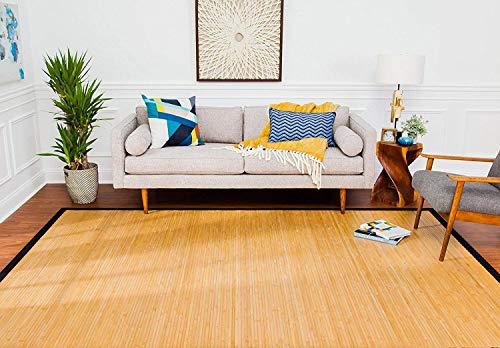 - Anji Mountain 2' x 3' Contemporary Natural Bamboo Rug