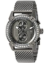 Invicta Mens Specialty Quartz Stainless Steel Casual Watch, Color:Grey (Model: 23677)