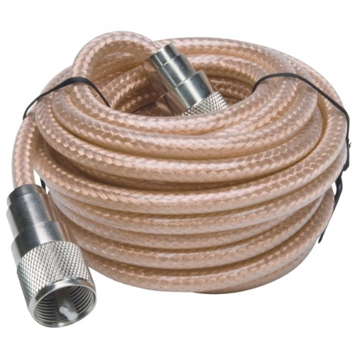 RoadPro 9' Mini-8 PL-259 Coaxial Cable (Best Coax For Cb Radio)