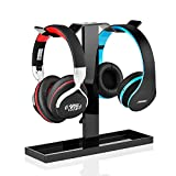 Headphone Stand,Myguru Headset Stand Headphone Holder Mount Earphone Stand Universal Aluminum Headset Showing Display Hanger for All Size Wired Wireless Headphone (Black.)