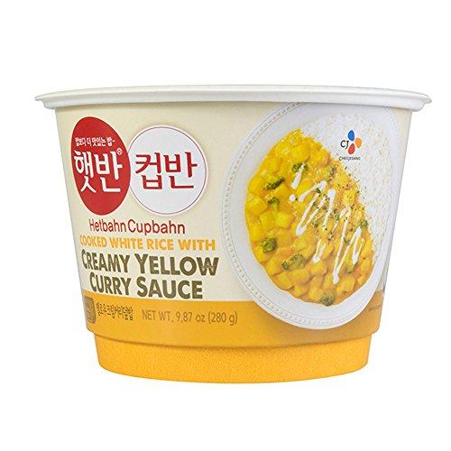 Korean CJ Cupbahn Hetbahn Microwavable Rice Bowls ( Yellow Cream Curry Rice )
