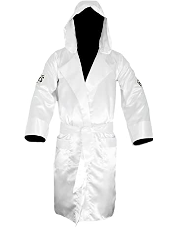 d19130bf4f Cleto Reyes Satin Boxing Robe with Hood - XL - White