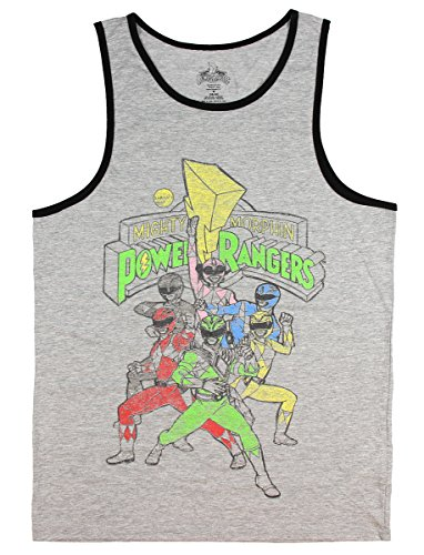 Mighty Morphin Power Rangers Graphic Tank Top - (Mighty Morphin Power Rangers T-shirt)