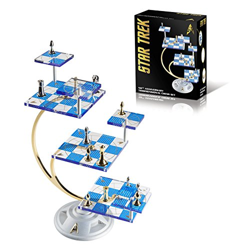WE Games Franklin Mint's Official 50th Anniversary Star Trek Tridimensional Chess Set from WE Games