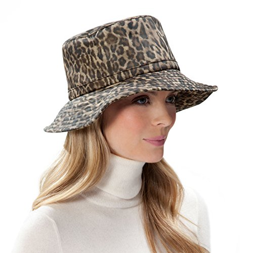 Eric Javits Luxury Fashion Designer Women's Headwear Hat -Rain Bucket - Leopard by Eric Javits