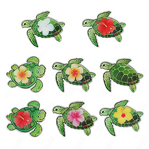 Sea Turtle Refrigerator Magnets, Strong Fridge Magnets Set Funny Cute Tropical Decoration Refrigerator Whiteboards etc Suitable for Kids and Adults (Pack of 8 Green Sea Turtles)