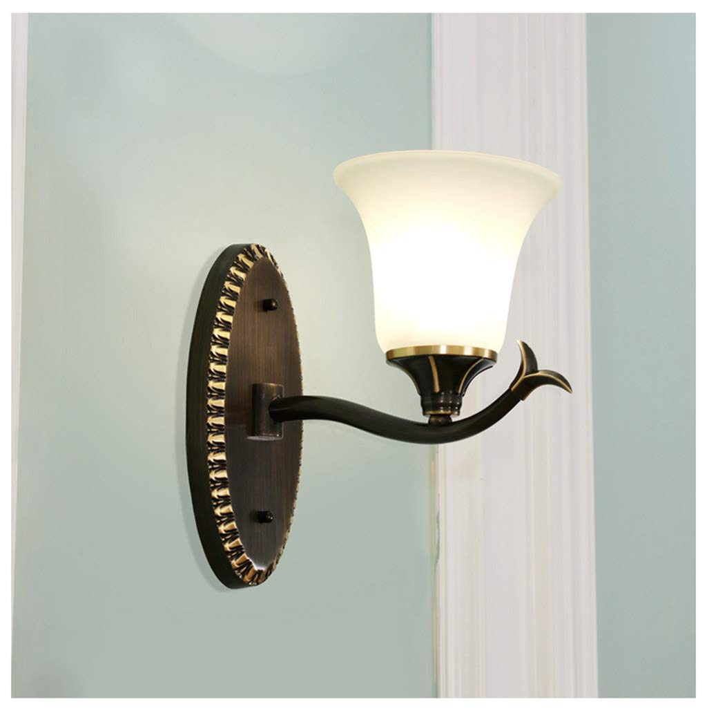 HARDY-YI All Copper Black Rub Gold Wall Lamp Living Room Bedroom