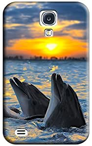 Dolphin Hard Back Shell Case / Cover for Galaxy S4