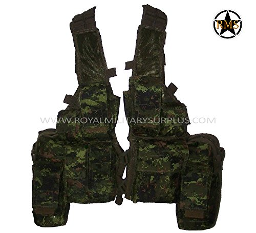 (Tactical Vest - Rhodesian - Canada Army Digital Camouflage - Airsoft & Paintball Gear - CADPAT (Temperate Woodland))