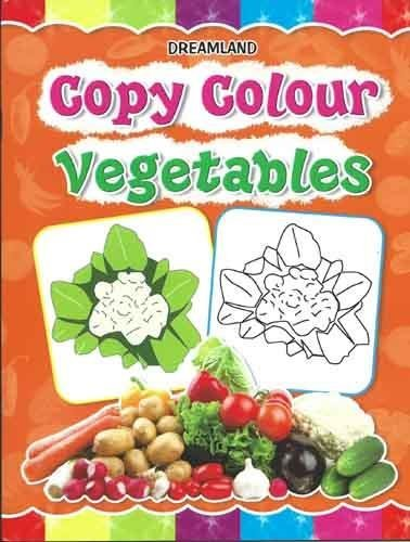 Copy Colour: Vegetables (Copy Colour Books)