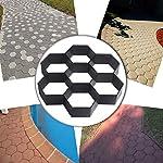LZFLZ-Giardino-Pavimentazione-Stampo-Esagonale-Modello-Garden-Calcestruzzo-Stampi-Pavimentazione-in-Mattoni-for-DIY-Path-Mold-Stepping-Stone-Walkways-Stampi-Color-Black