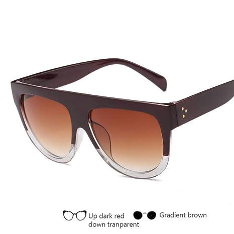 HUILIN Marca de Moda diseñador Gafas de Sol Damas de Gran ...