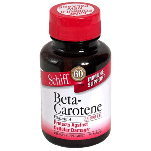 Schiff Beta-Carotene, 25000 IU, Softgels, 90 softgels (Pack of 3)