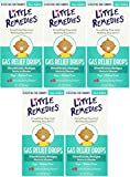 Little Remedies Tummy nvXtF Relief Drops, Natural Berry Flavor, 1 Ounce (5 Pack)