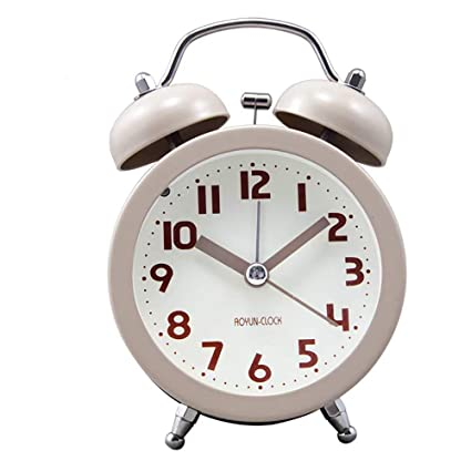 Loud Alarm Clock Silent Analog No Ticking Twin Bell Backlight Old Fashioned