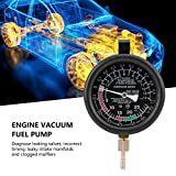 Engine Vacuum Pressure Tester, Universal Car Engine Vacuum Fuel Pump&Vacuum Tester Gauge Carburetor Pressure Diagnostics Leakage Tester