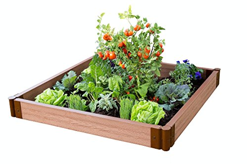 Frame It All Two Inch Series 4ft. x 4ft. x 5.5 in. Composite Raised Garden Bed Kit