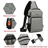 Small Shoulder Sling Backpack with USB Charging