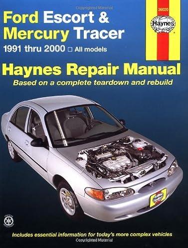 ford escort mercury tracer 1991 2000 all models haynes rh amazon com 1986 Mercury Tracer 1984 Mercury Tracer