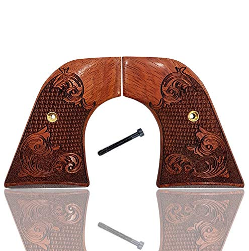 New Grip - Ruger New Vaquero Grips & 50th Anniversary Blackhawk Grips Solid Rosewood Engraved