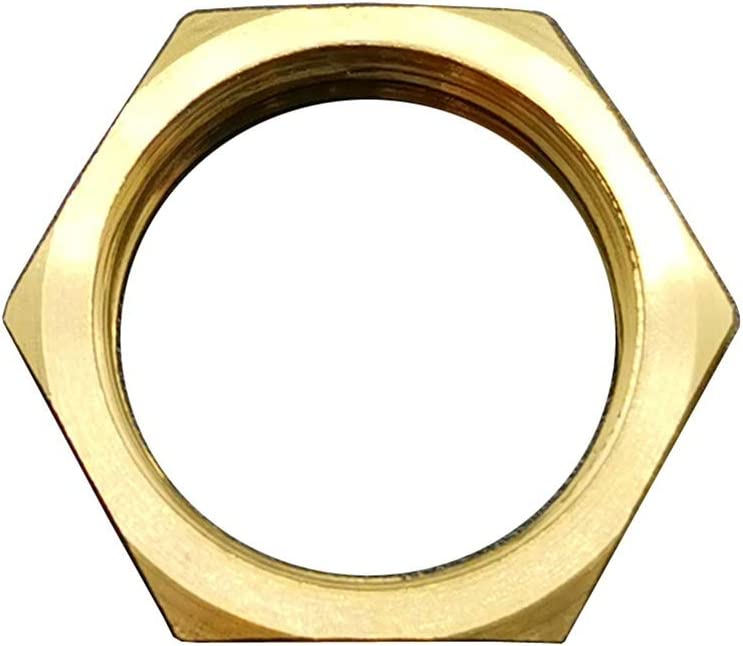 Color : No Flange, Size : 1 1pc 1//8 1//4 3//8 1//2 3//4 1 Raw Color BSP Female M10//12//14//16//18 Brass Hex Lock Nut with//No Flange