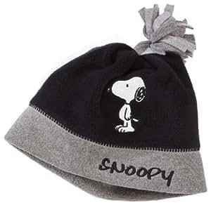 Snoopy - Gorro para niño negro de 100% poliéster, talla: 51