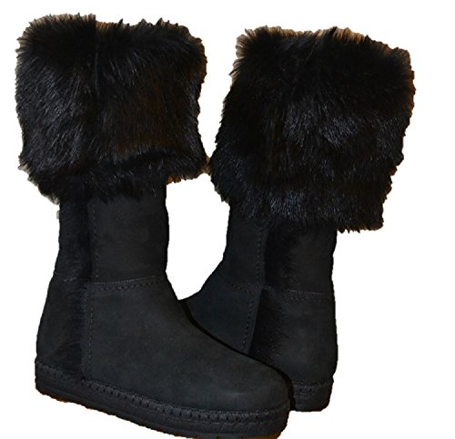 US Black EU Prada Lined 36 Women's Boots 6 Fur Shearling axFYF8