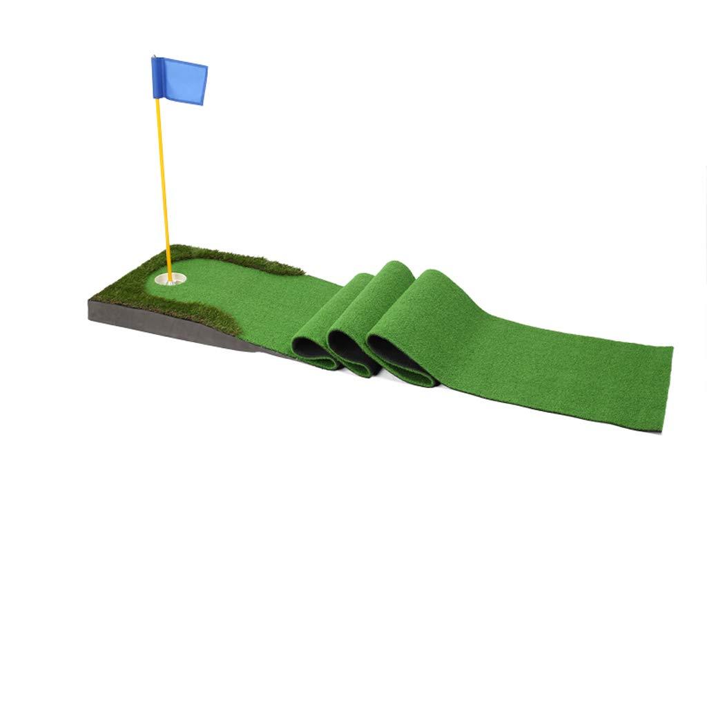 Zfggdゴルフパッティング練習ホーム屋内グリーンマット、斜面ボールパッドで75 * 300 cm練習毛布 B07KY9P3QT