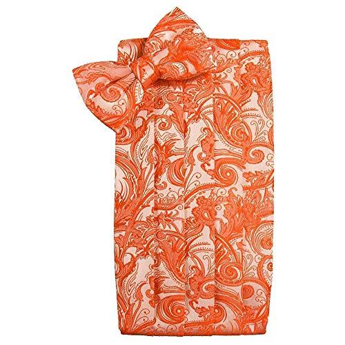 (Men's Tapestry Cummerbund & Bow Tie Set - Many Colors (Persimmon))
