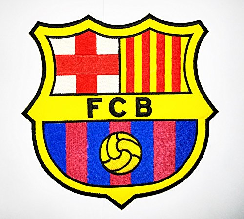 Big Size Barca FCB Football Club Soccer Patch Logo Jacket T-shirt Patch Sew Iron on Embroidered Badge Emblem - Arrival Mail Times