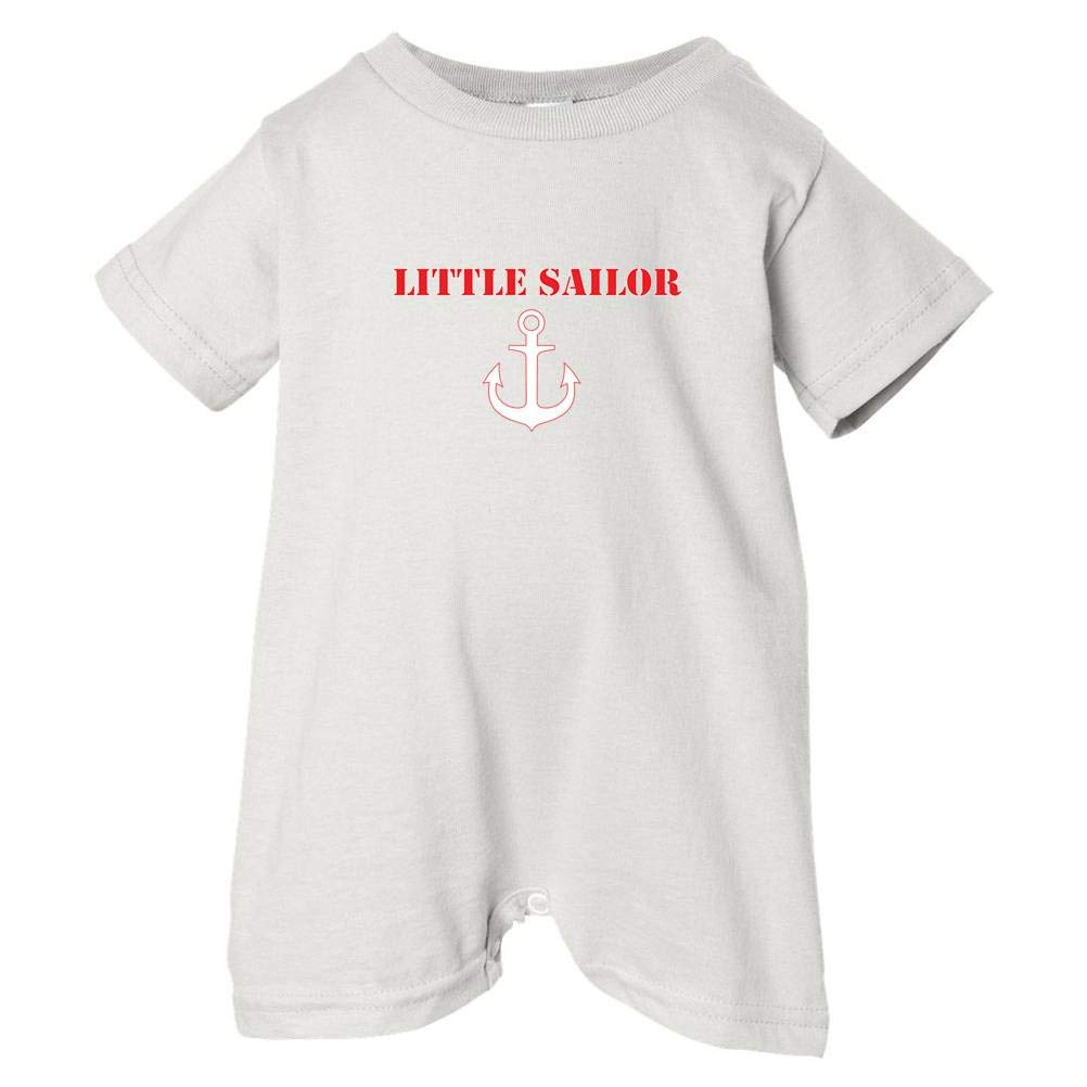 Pirates /& Anchors Unisex Baby Little Sailor Baby /& Toddler T-Shirt Romper White, 6 Months