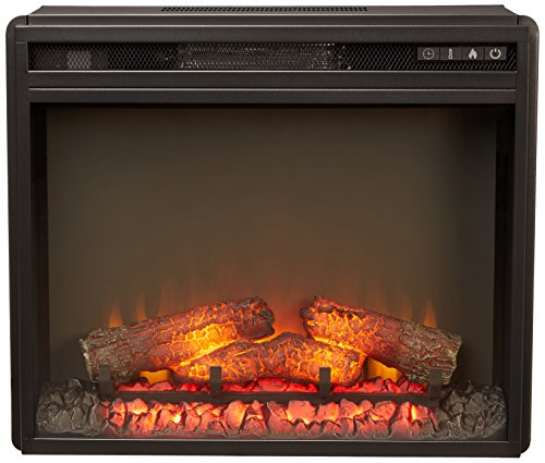 Ashley Furniture Signature Design - Small Electric Fireplace Insert - Includes Insert Only - TV Stand Sold Separately - Black - Fireplace Insert Package