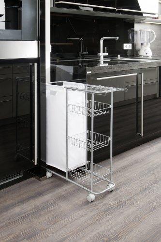 wenko 12100100 sammelwagen slim 3 etagen abnehmbarer. Black Bedroom Furniture Sets. Home Design Ideas