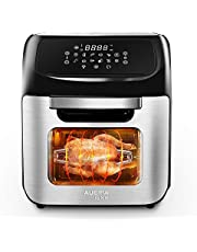 12L Digital Air Fryer Oven, 90% Less-Oil Fryers, 12 in 1 Function Reheat/Preheat/Defrost/French Fry/Rotisserie/Baking/Dehydrator/Keep Warming, Time and Temperature Control Deep Fryer, 1800W, Black