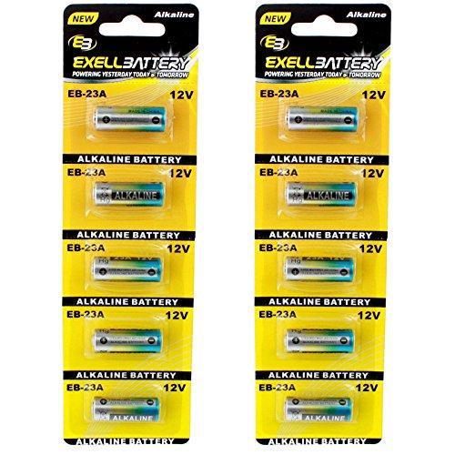 lkaline Battery Fits and Replaces Chamberlain 750 753 756, Craftsmen 139.53962SRT, Energizer A23BP2 AE23, Genie Garage Door ACSCTG A23F, Gp Super Alkaline 23279 750 ()
