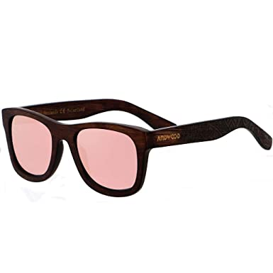 f0e97a21a08a Amazon.com  ANDWOOD Real Bamboo Wood Sunglasses With Black Polarized ...