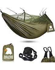 Covacure Campinghängmatta med myggnät, Grön, 2 pers