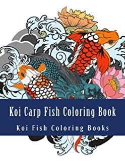 Koi Carp Fish Coloring Book Japanese Designs Henna And Mandala Style Patterns