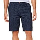 Tommy Hilfiger Mens Floral Print Flat Front Casual Shorts Navy 36
