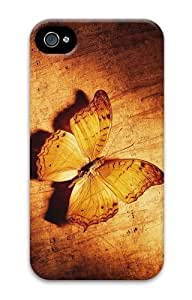 popular case brown butterfly PC Case for iphone 4/4S
