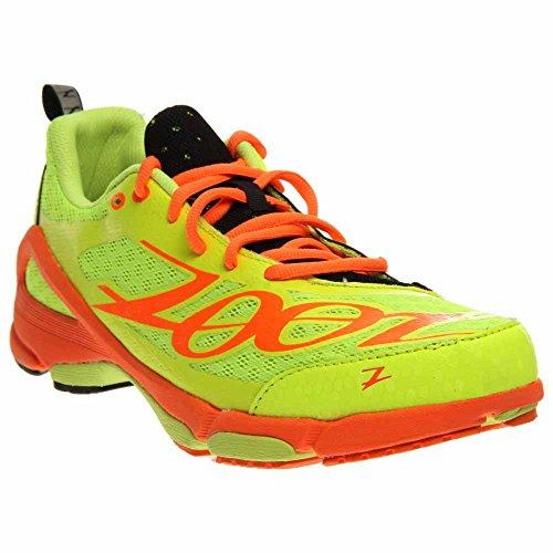 Zoot Men's M TT Trainer 2.0 Running Shoe,Safety Yellow/Blaze/Black,7 M US