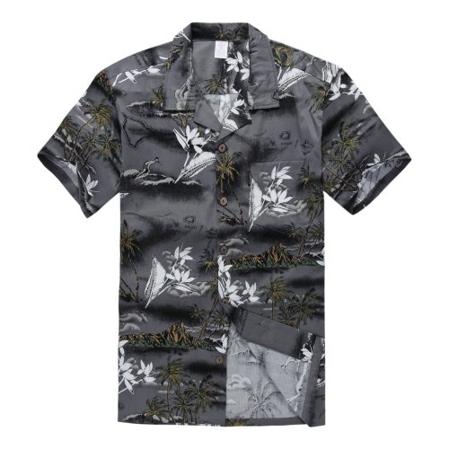 Palm Wave Mens Hawaiian Shirt Aloha Shirt