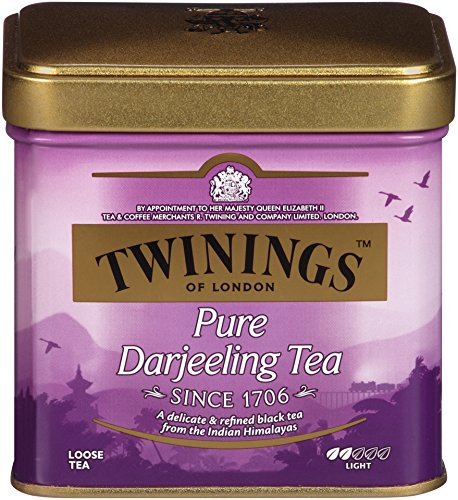 Twinings of London Darjeeling Loose Tea Tins, 3.53 Ounces (Pack of 6)