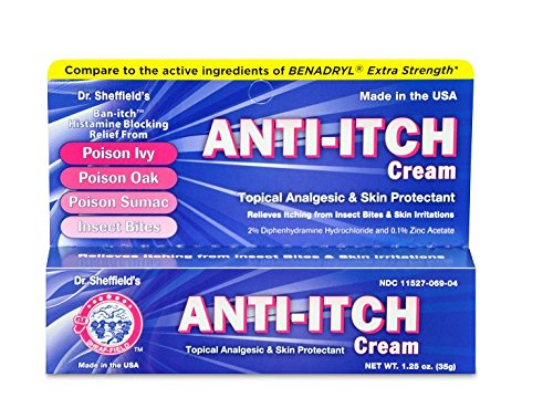 Dr. Sheffield's Anti-Itch Cream Topical Analgesic & Skin Protectant - MS60746 (4 Box)
