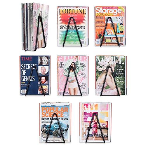 Wallniture Vango Wrought-Iron Floating Shelf Bracket Set, Decorative Triangle Racks for Walls (Wrought Bookcase Designs Iron)
