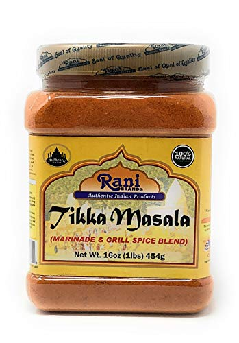Rani Tikka Masala Indian Spice Blend 16oz (454g) ~ All Natural, Salt-Free | Vegan | No Colors | Gluten Free Ingredients | NON-GMO -