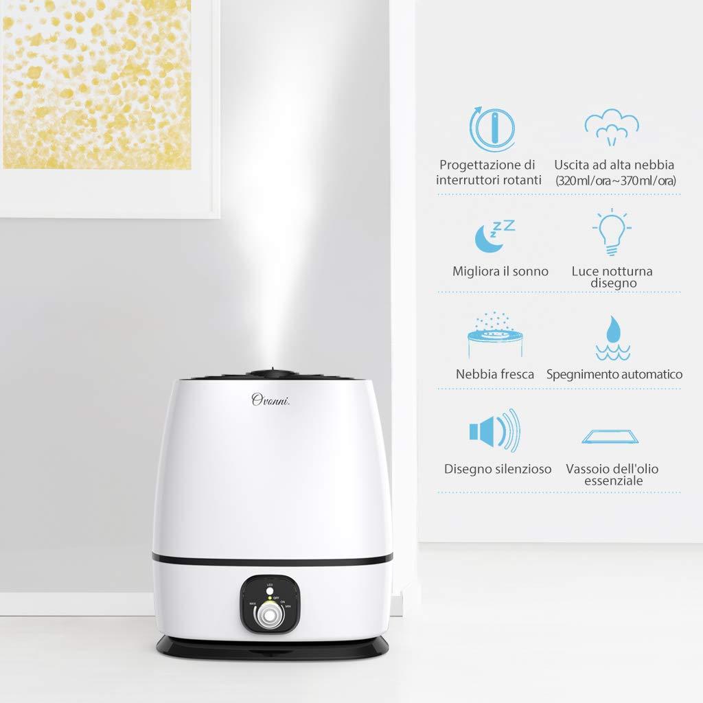 4L Ultraschall Luftbefeuchter Luftreiniger Aroma Diffuser Luftreinigungsgerät EA