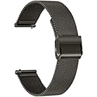 TRUMiRR Vervanging voor Fossil mannen Gen 5 Carlyle/Fossil vrouwen Gen 5 Julianna Horlogeband, 22mm Mesh Geweven…